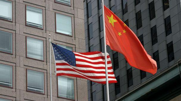 PHOTO: The U.S. flag and the national flag of the People's Republic of China are seen in this stock photo. (STOCK PHOTO/Getty Images)