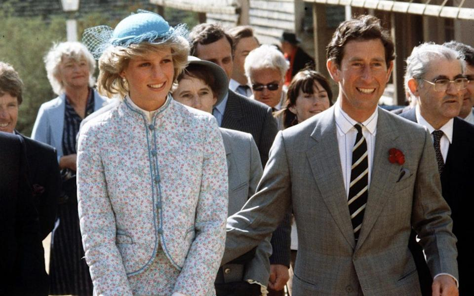 Prince Charles and Princess Diana in Bendigo, Australia, in 1983 - Tim Graham