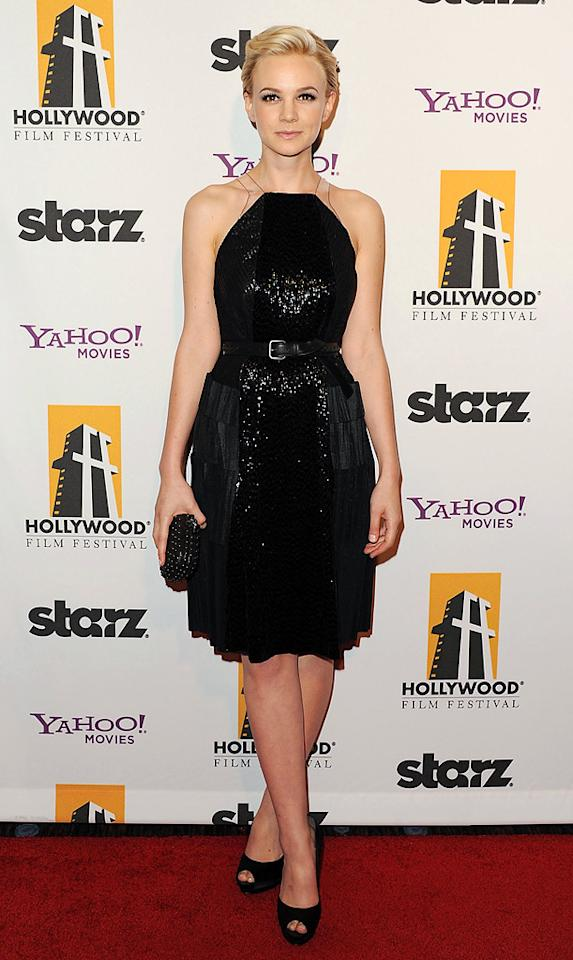 """<a href=""""http://movies.yahoo.com/movie/contributor/1808686699"""">Carey Mulligan</a> at the 15th Annual Hollywood Film Awards in Beverly Hills, California on October 24, 2011."""