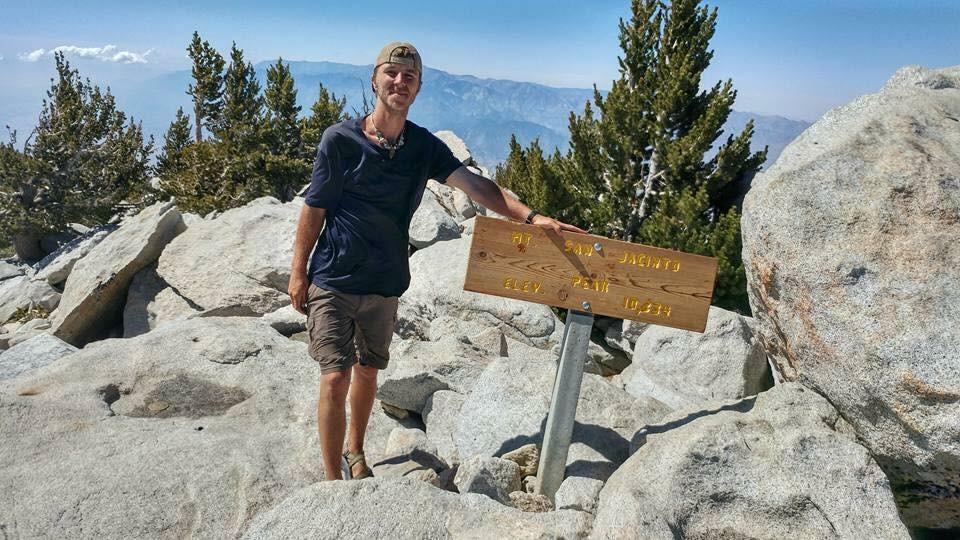 Kris Fowler on the PCT (Contributed by Sally Fowler)