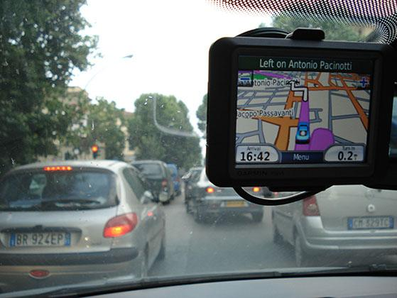 GPS device giving directions (MCT via Getty Images)