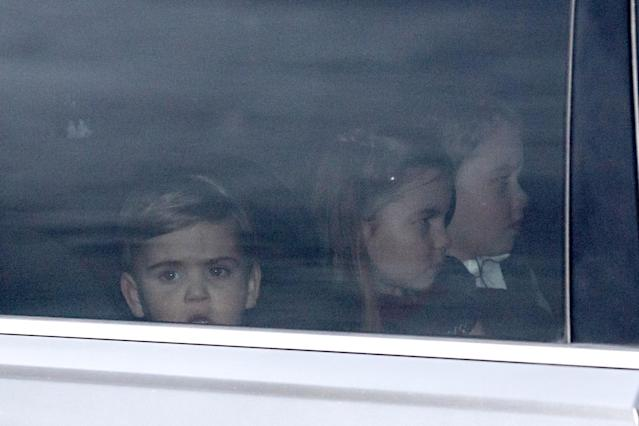 Louis was seen with his older siblings going to Christmas lunch at Buckingham Palace. (Getty Images)