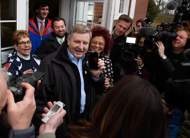 Republican congressional candidate Rick Saccone has US President Donald Trump's backing in a race that carries national implications as their party looks to maintain control of Congress (AFP Photo/JEFF SWENSEN)