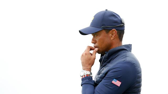 Tiger Woods was not impressed by the Melbourne crowd after a feisty day three of the Presidents Cup.