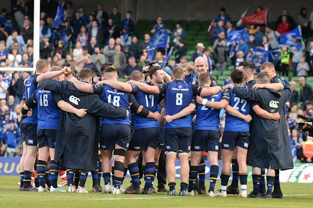 Leinster dismantled a Scarlets side who headed across from Wales buoyed by having beaten the same opponents in last season's Pro 12 semi-final in Dublin (AFP Photo/Barry CRONIN)