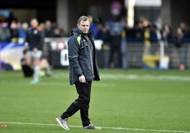 Saracens' coach from Northern Ireland Mark McCall, whose team crushed Northampton in the English Premiership, is seen here ahead of the European Rugby Union Champions Cup match between Clermont and Saracens at The Michelin Stadium in December, 2017