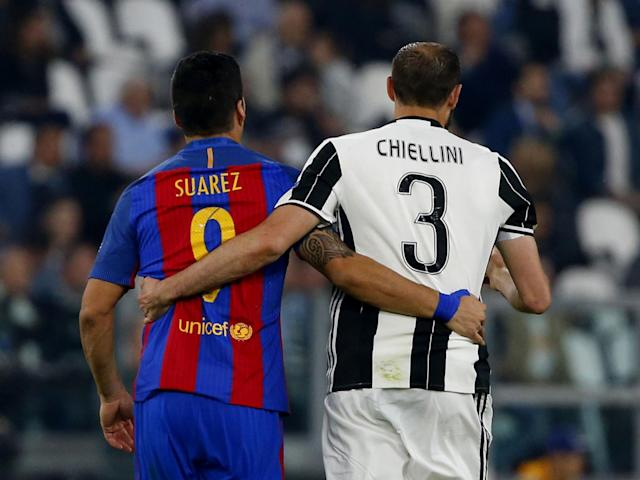 Chiellini did a fine job of keeping Suarez quiet: Getty