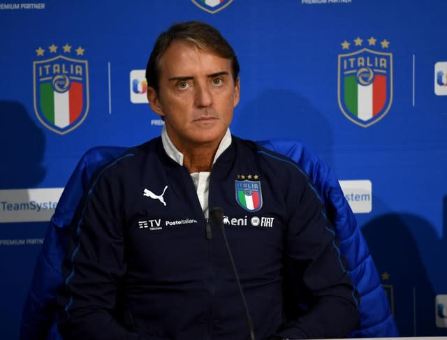 Italy manager Roberto Mancini will not be bringing new players into his squad ahead of the Euro 2020 finals (Claudio Giovannini/AP)
