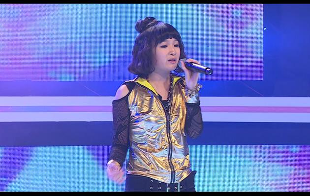 Anthea performed a Jessie J song with a new image which she was uncomfortable with (Photo courtesy of Channel M)