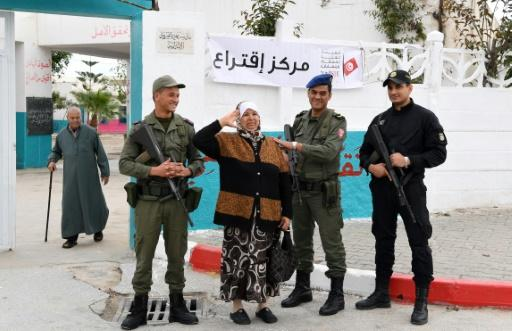 Around 60,000 police and military personnel were mobilised for the polls, while Tunisia remains under a state of emergency, imposed in 2015 after a string of deadly jihadist attacks