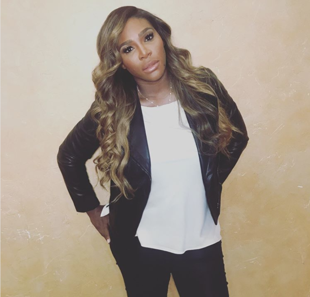 <p>Long, loose blond locks look good on Williams. (Photo: Instagram/Serena Williams) </p>