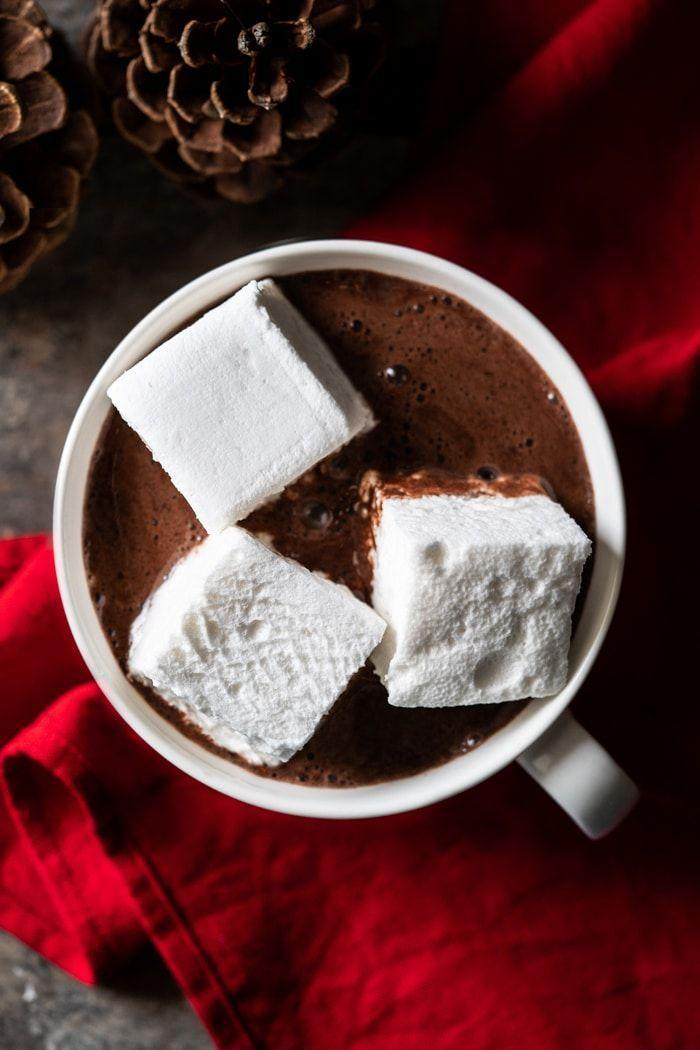 """<p>You need this on a cold day. Pro tip: Make the marshmallows, too.</p><p><strong><a class=""""link rapid-noclick-resp"""" href=""""https://www.gnom-gnom.com/paleo-keto-hot-chocolate-marshmallows/"""" rel=""""nofollow noopener"""" target=""""_blank"""" data-ylk=""""slk:Get the recipe"""">Get the recipe</a></strong></p><p><em>Per serving: 66 calories, 3 g fat, 3.5 g carbs, 326 mg sodium, 2 g fiber, 2 g protein.</em></p>"""