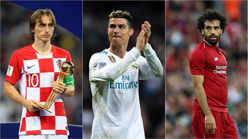 FIFA's best player: Ronaldo, Modric, Salah shortlisted