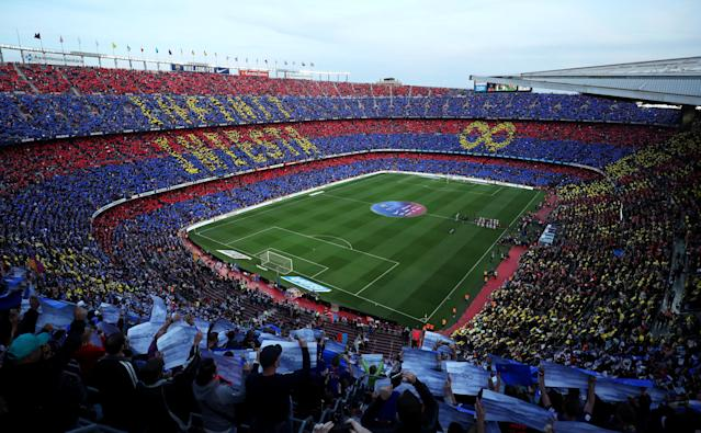 Soccer Football - La Liga Santander - FC Barcelona vs Real Sociedad - Camp Nou, Barcelona, Spain - May 20, 2018 General view before the match REUTERS/Albert Gea TPX IMAGES OF THE DAY