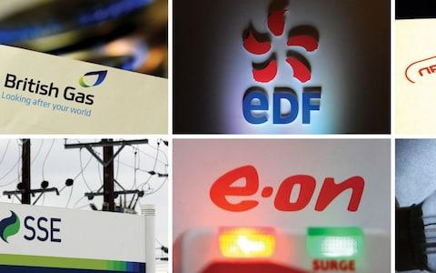 The logos of some of the Big Six energy firms - Credit: PA