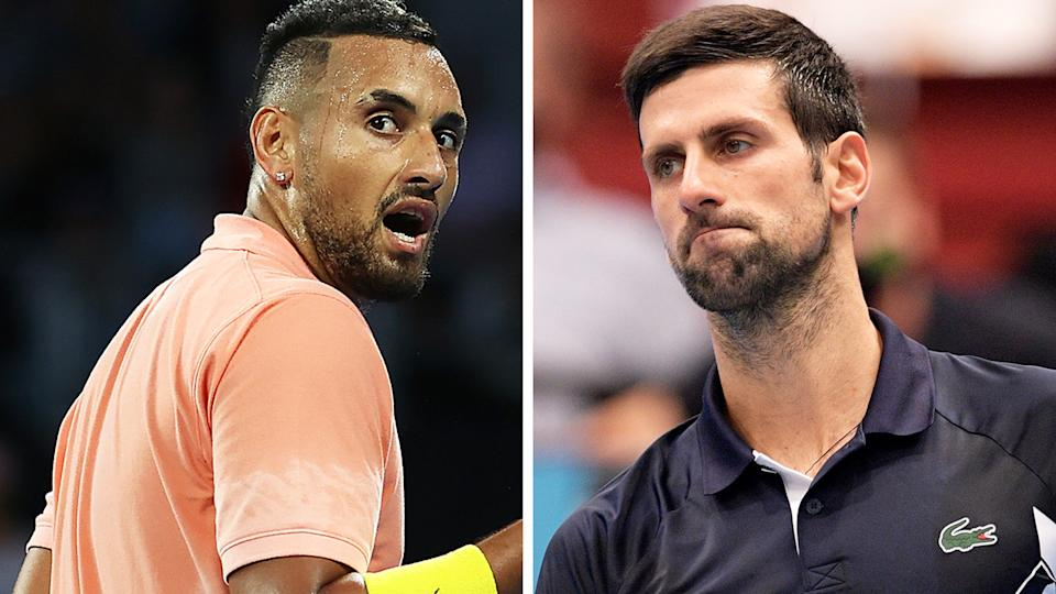 Nick Kyrgios has vowed he 'ain't holding back' in his criticism of world No.1 Novak Djokovic. Pictures: Getty Images