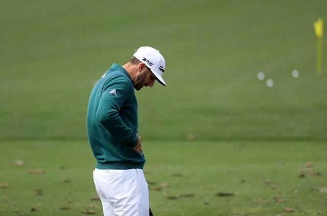 "<a class=""link rapid-noclick-resp"" href=""/pga/players/9267/"" data-ylk=""slk:Dustin Johnson"">Dustin Johnson</a> couldn't compete in the Masters with back pain. (Getty Images)"
