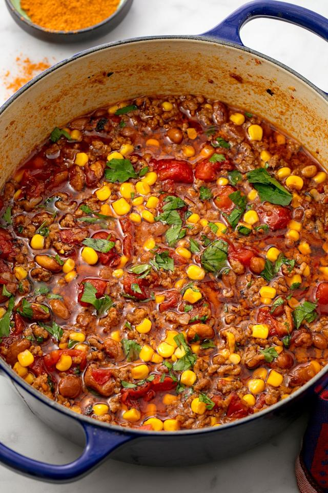 """<p>We need to taco about how good this soup is.</p><p>Get the recipe from <a rel=""""nofollow"""" href=""""https://www.delish.com/cooking/recipe-ideas/recipes/a54971/easy-taco-soup-recipe/"""">Delish</a>.</p>"""