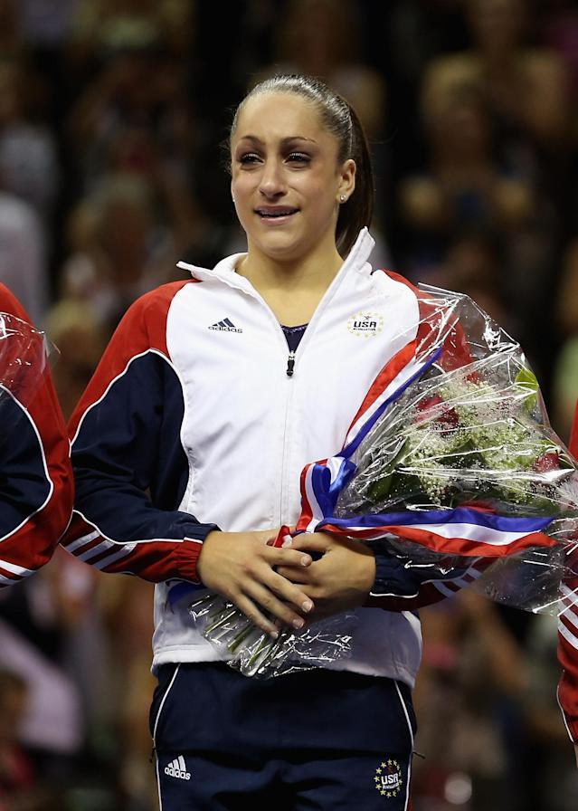 SAN JOSE, CA - JULY 01: Jordyn Wieber reacts after being named to the US Gymnastics team going to the 2012 London Olympics at HP Pavilion on July 1, 2012 in San Jose, California. (Photo by Ezra Shaw/Getty Images)