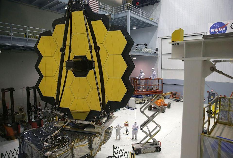 """<p>The <a href=""""https://www.popularmechanics.com/space/deep-space/a14392231/james-webb-space-telescope-researchers-gear-up-for-science/"""" rel=""""nofollow noopener"""" target=""""_blank"""" data-ylk=""""slk:James Webb Space Telescope"""" class=""""link rapid-noclick-resp"""">James Webb Space Telescope</a> is set to be the successor to the Hubble Telescope and has a planned <a href=""""https://jwst.nasa.gov/launch.html"""" rel=""""nofollow noopener"""" target=""""_blank"""" data-ylk=""""slk:launch"""" class=""""link rapid-noclick-resp"""">launch</a> date of 2021, but that's after a long line of delays and setbacks. Webb will be launched with the assistance of the European Space Agency (ESA) who will provide an Ariane 5 rocket to set the Webb into orbit.</p>"""