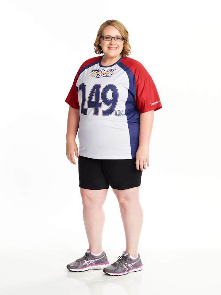 """Marie Pearl competes on NBC's """"The Biggest Loser"""" Season 15."""