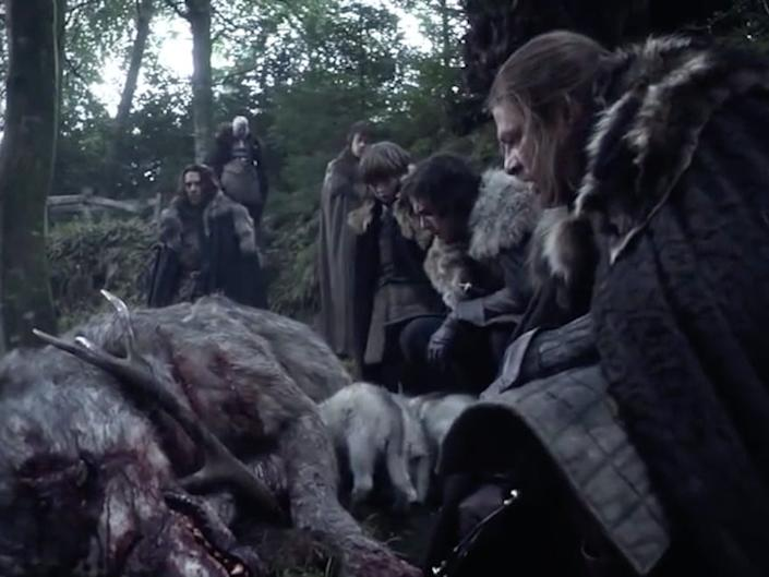 game of thrones dead direwolf tollymore