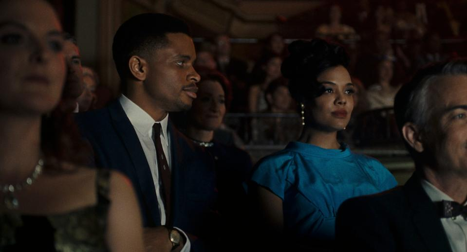 """Sylvie's Love"" stars Nnamdi Asomugha as a jazz saxophonist who takes a job at a record store and falls for Sylvie (Tessa Thompson), a co-worker waiting for her soldier fiancé to return home."