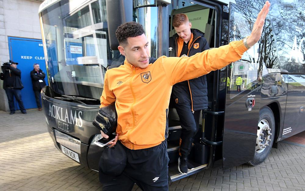 Jake Livermore of Hull City arrives