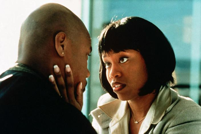<p>In 1996, King stepped into another supporting yet commanding role as Cuba Gooding Jr.'s wife Marcee Tidwell in <em>Jerry Maguire</em>.</p>