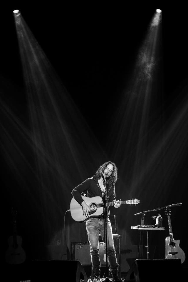<p>Chris Cornell performs at Teatro Bradesco on December 8, 2016 in Rio de Janeiro, Brazil.<br>(Photo by Raphael Dias/Getty Images) </p>