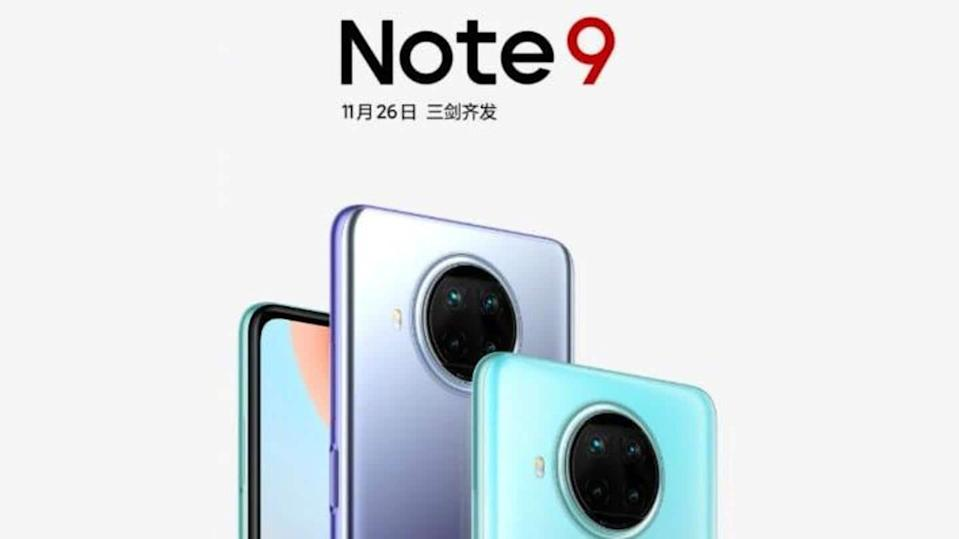 Redmi Note 9 5G-series to be launched on November 26
