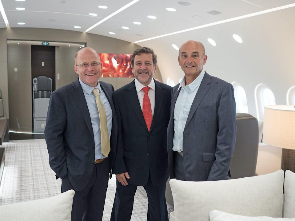 The CEOs of Camber Aviation Management, Kestrel Aviation Management, and Pierrejean Vision.