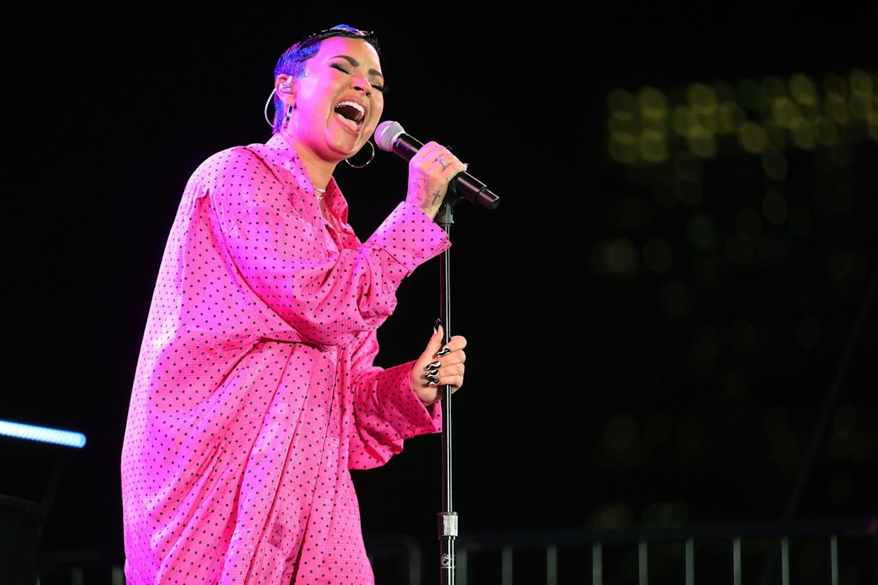 Demi Lovato said sharing their identity 'opens up another level or vulnerability'. (Photo by Rich Fury/Getty Images for OBB Media)