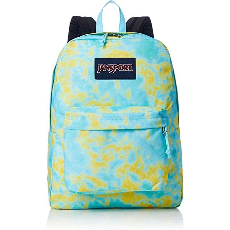<p>We love the tie-dye print on this sturdy and comfortable <span>JanSport SuperBreak Backpack</span> ($36).</p>