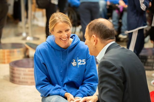 Saskia Clark was speaking at an event in Stratford to mark the 25th anniversary of the National Lottery