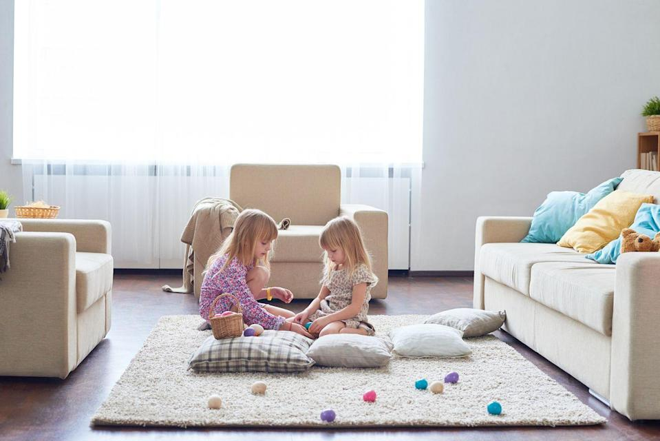 """<p>Once they've found all the eggs, let them grab a few and hide them on <em>you</em>. They can use the """"hotter/colder"""" method to direct you to their hiding spots. Just promise not to peek! </p>"""