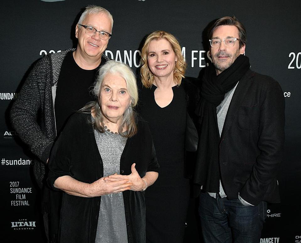 <p>The cast of 'Marjorie Prime' poses at the Jan. 23 premiere. (Photo: George Pimentel/Getty Images) </p>