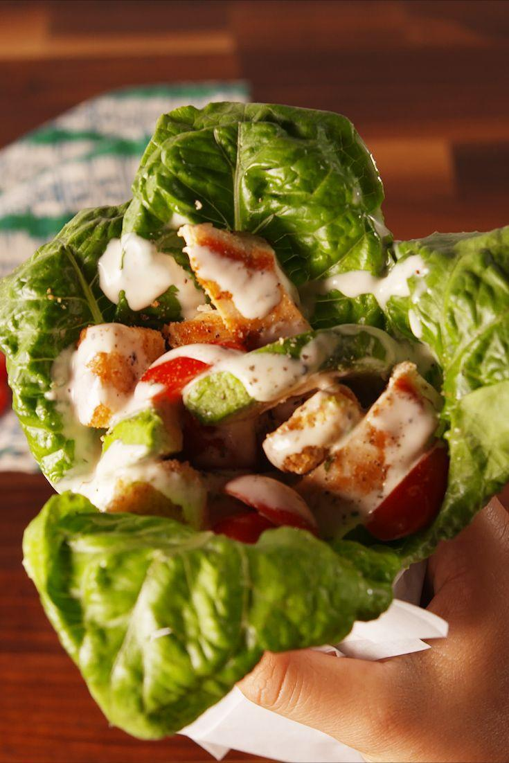 "<p>Low-carb lovers, rejoice!</p><p>Get the recipe from <a href=""https://www.delish.com/cooking/recipe-ideas/recipes/a54961/chicken-caesar-wraps-recipe/"" rel=""nofollow noopener"" target=""_blank"" data-ylk=""slk:Delish"" class=""link rapid-noclick-resp"">Delish</a>. </p>"