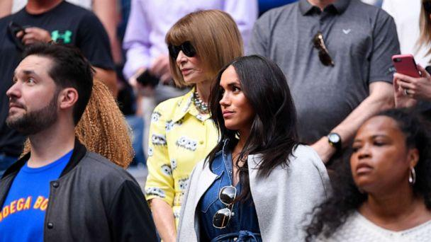 PHOTO: Meghan Markle arrives to watch the women's singles final match between Serena Williams of the United States and Bianca Andreescu of Canada on day thirteen of the 2019 U.S. Open tennis tournament at USTA Billie Jean King National Tennis Center. (Robert Deutsch-USA TODAY Sports)