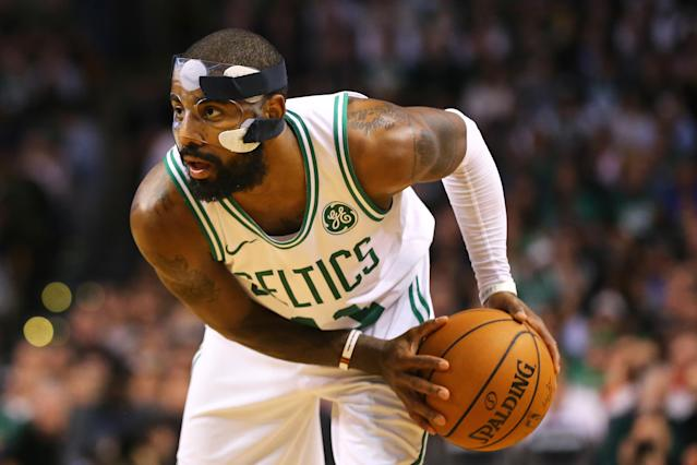 Kyrie Irving of the Boston Celtics in action during the second half against the Milwaukee Bucks (AFP Photo/Maddie Meyer)