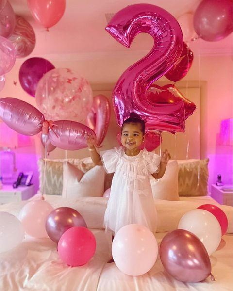 """<p>The mother of one recently celebrated her daughter True's second birthday, sharing photos to Instagram of her decorated Los Angeles home.</p><p><a href=""""https://www.instagram.com/p/B-5-whyhBJy/"""" rel=""""nofollow noopener"""" target=""""_blank"""" data-ylk=""""slk:See the original post on Instagram"""" class=""""link rapid-noclick-resp"""">See the original post on Instagram</a></p>"""