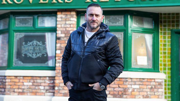 Will said he's enjoying the challenge of playing drug-dealing baddy Harvey in Coronation Street (ITV)