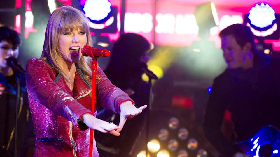 Mandatory Credit: Photo by Charles Sykes/Invision/AP/Shutterstock (9202832ad)Taylor Swift performs in Times Square during New Year's Eve celebrations on in New YorkNew Years Eve Times Square, New York, USA - 31 Dec 2012.