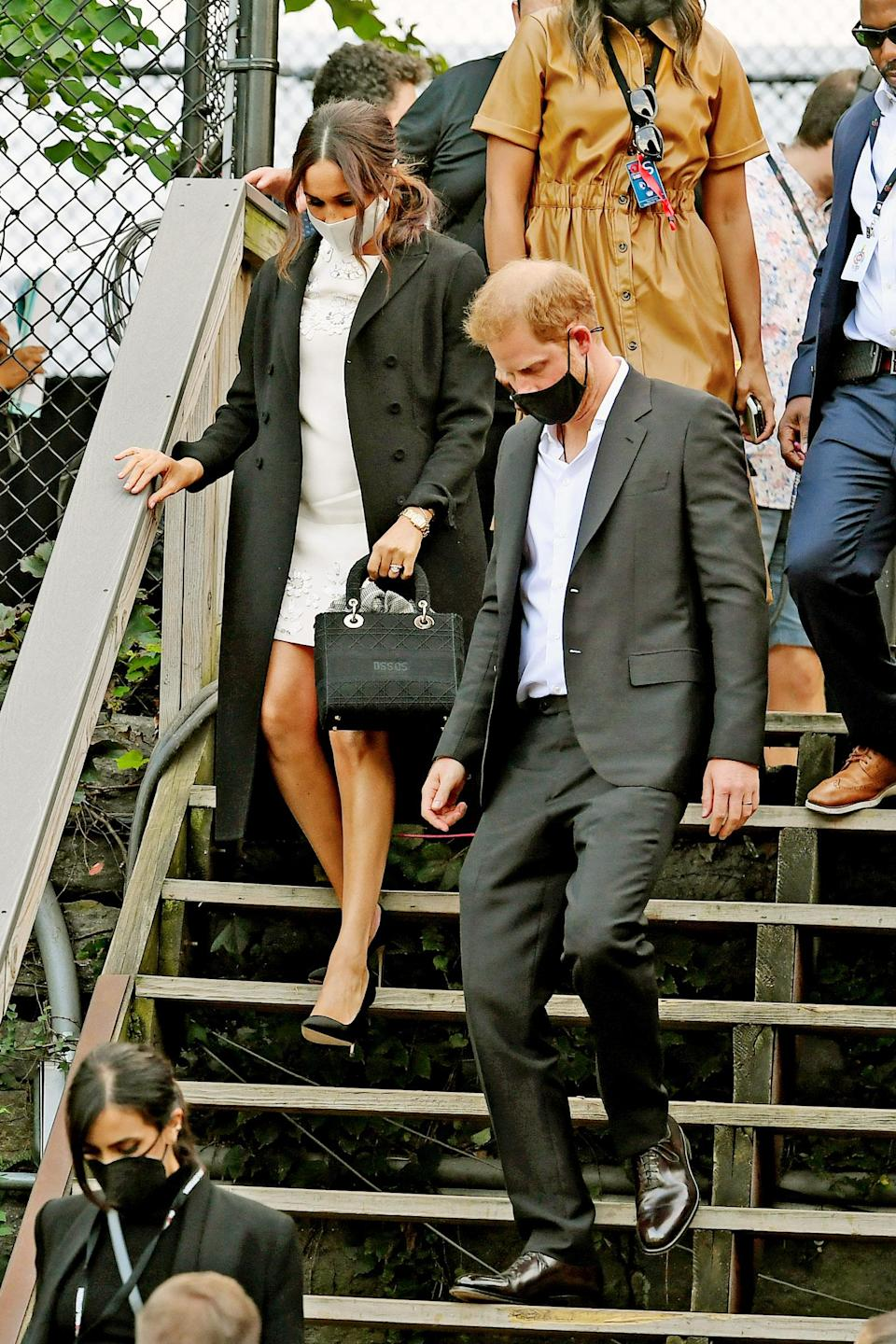 Prince Harry and Meghan Markle leave Global Citizen Live at New York City's Central Park. - Credit: MEGA