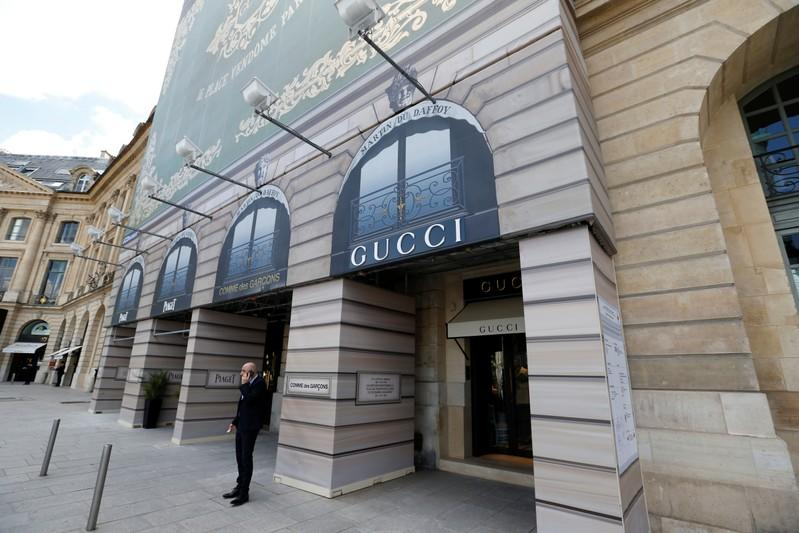 A view shows the new high end jewellery Gucci store on Place Vendome in Paris