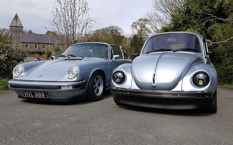 Porsche 911 and VW Beetle converted to EV electric propulsion