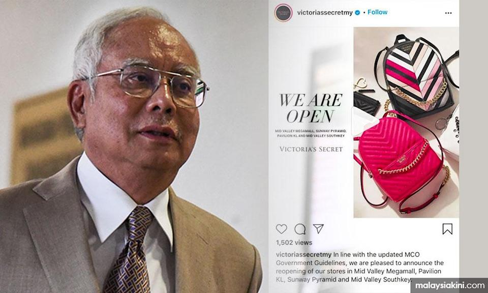 Victoria's Secret too hot for Najib during MCO