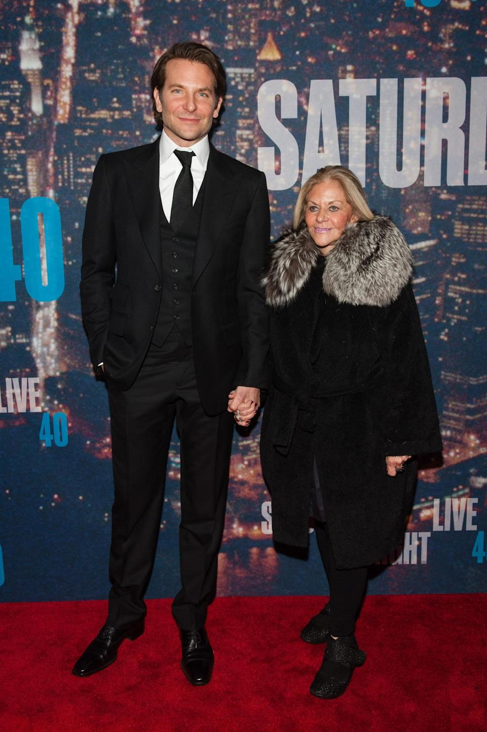 Bradley Cooper took a break from Broadway and Oscar campaigning to escort his mother, Gloria Campano, to the retrospective.