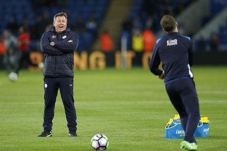 Leicester City manager Craig Shakespeare before the match
