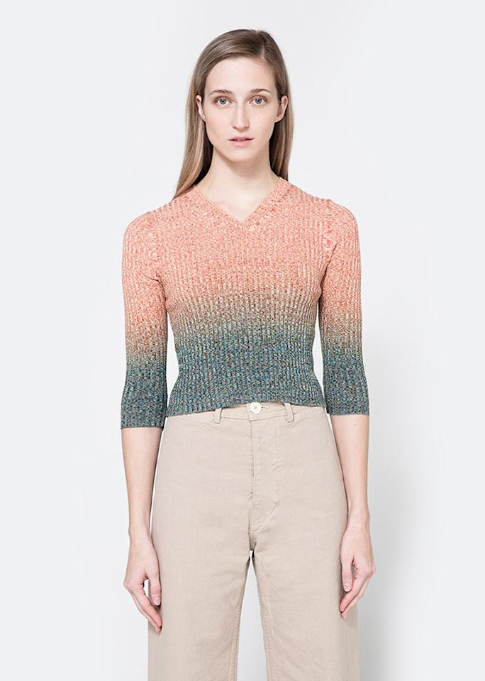 """Acne Studios Riva Mouline in Turquoise, $360; at <a rel=""""nofollow"""" href=""""http://needsupply.com/womens/clothing/sweaters/riva-mouline-in-turquoise.html"""" rel="""""""">Need Supply Co.</a>"""